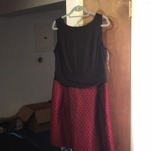 NWT sz 18 American Living Black and Red Dress